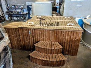 Badetonne eckig Micro Pool für 16 Personen! Party tub! (1)