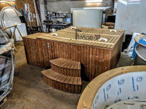 Badetonne eckig Micro Pool für 16 Personen! Party tub! (2)