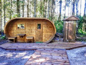 Oval sauna photo