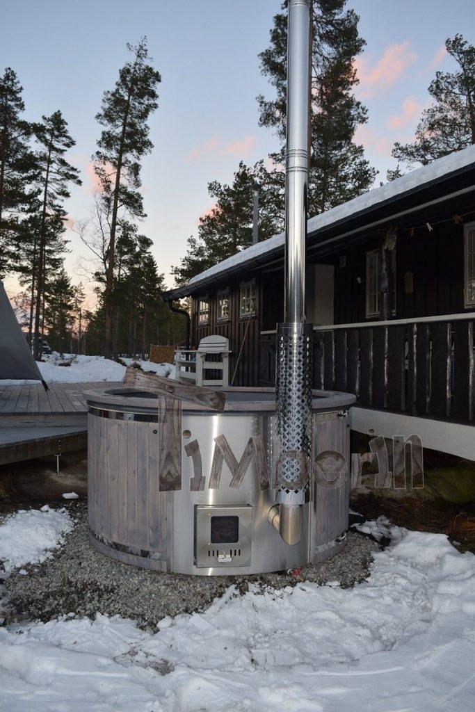 Badestamp i glassfiber med integrert ovn termo tre Wellness Royal, Gunnar, Kongsberg, NORWAY (2)
