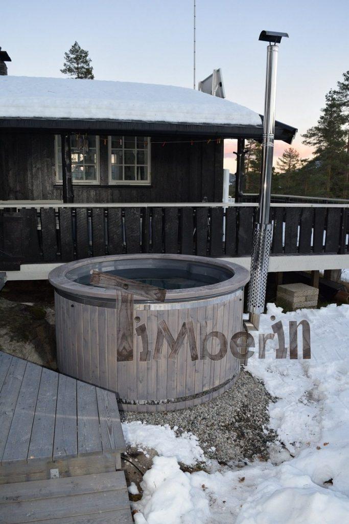 Badestamp i glassfiber med integrert ovn termo tre Wellness Royal, Gunnar , Kongsberg, NORWAY