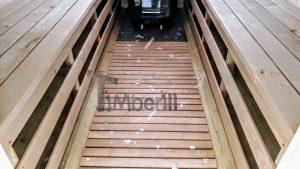 Utendørs fat sauna med trailer garderoben og vedovn (15)