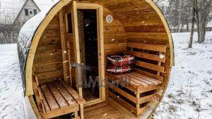 Utendørs fat sauna med trailer garderoben og vedovn (18)