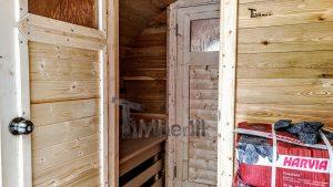 Utendørs fat sauna med trailer garderoben og vedovn (20)