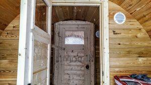 Utendørs fat sauna med trailer garderoben og vedovn (23)