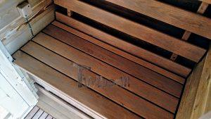 Utendørs fat sauna med trailer garderoben og vedovn (24)