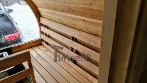 Utendørs fat sauna med trailer garderoben og vedovn (28)
