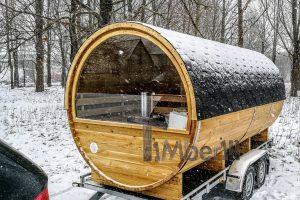 Utendørs fat sauna med trailer garderoben og vedovn (29)