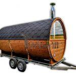 Utendørs fat sauna med trailer garderoben og vedovn (39)