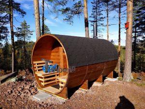 Utendørs vedfyrt tønne badstuer, Lene, Lysaker, Norway (3)