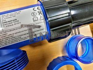 UV C filter for kjemisk vannbehandling for badestamper
