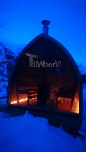 Utendørs badstu iglu med panoramavindue, Tobias, Norge (2)