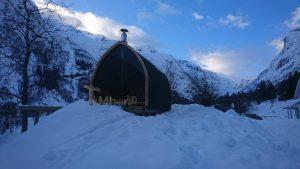 Utendørs badstu iglu med panoramavindue, Tobias, Norge (3)