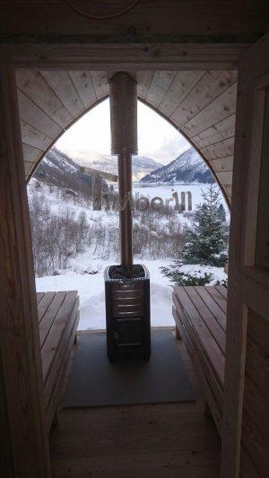 Utendørs badstu iglu med panoramavindue, Tobias, Norge (4)