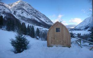 Utendørs badstu iglu med panoramavindue, Tobias, Norge (5)