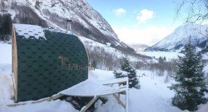 Utendørs badstu iglu med panoramavindue, Tobias, Norge (7)