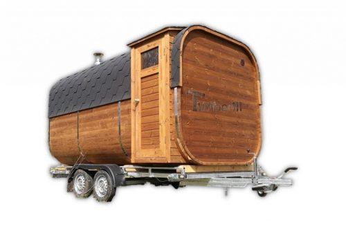 Utendørs badstue firkantet på hjul - Tilhenger