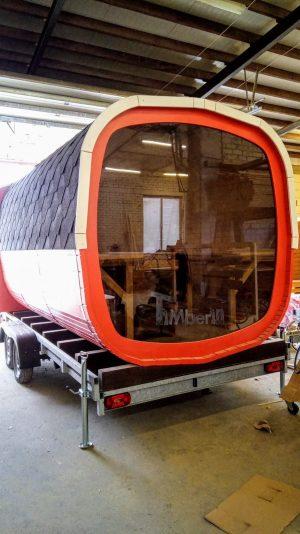 Utendørs badstue firkantet på hjul Tilhenger (2)