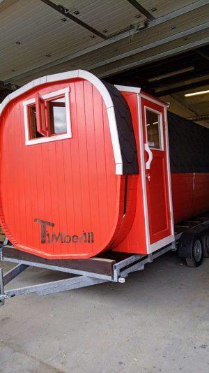 Utendørs badstue firkantet på hjul Tilhenger (3)