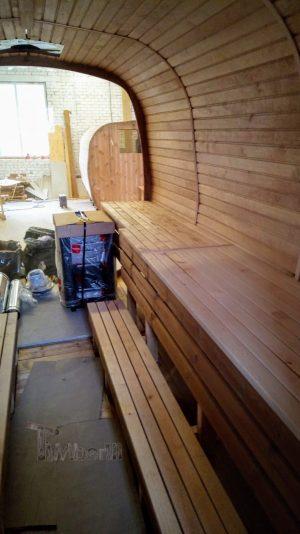 Utendørs badstue firkantet på hjul Tilhenger (5)