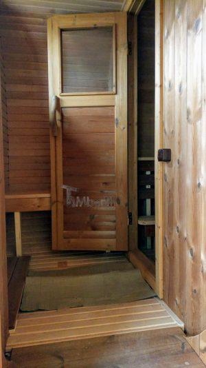 Utendørs badstue firkantet på hjul Tilhenger (6)