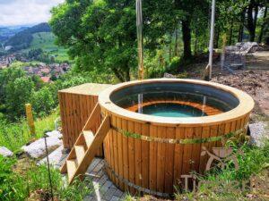 Vedfyrt elektrisk badestamp plast (1)
