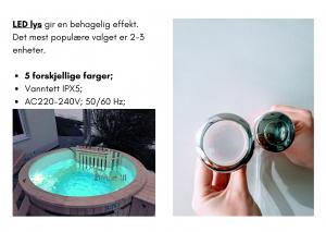 Vedfyrt elektrisk badestamp plast 1 LED (16)