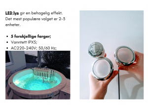 Vedfyrt elektrisk badestamp plast 2 LED (17)