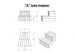 "Vedfyrt elektrisk badestamp plast ""A"" type trapper (12)"