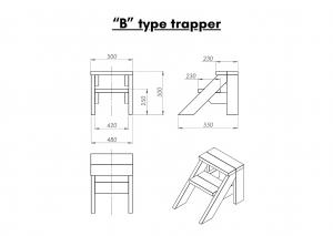 "Vedfyrt elektrisk badestamp plast ""B"" type trapper (11)"