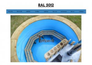 Vedfyrt elektrisk badestamp plast Blå (RAL 5012) (22)
