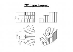 "Vedfyrt elektrisk badestamp plast ""C"" type trapper (13)"