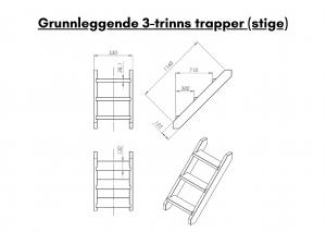 Vedfyrt elektrisk badestamp plast Grunnleggende 3 trinns trapper (stige) (10)