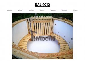 Vedfyrt elektrisk badestamp plast Hvit (RAL 9010) (21)