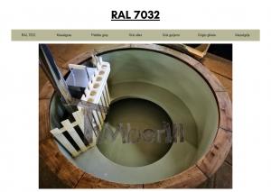 Vedfyrt elektrisk badestamp plast Lysegrå (RAL 7032) (24)