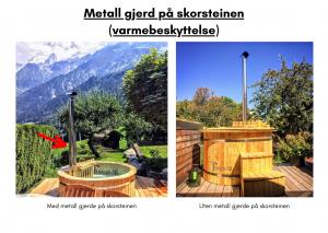 Vedfyrt elektrisk badestamp plast Metall gjerd på skorsteinen (varmebeskyttelse) (26)