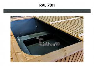 Vedfyrt elektrisk badestamp plast Mørk grå (RAL 7011) (25)