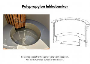 Vedfyrt elektrisk badestamp plast Polypropylen lukkebanker (9)