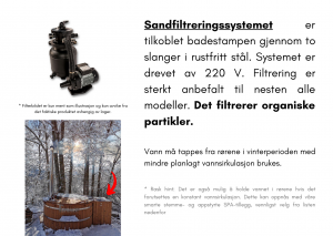 Vedfyrt elektrisk badestamp plast Sandfiltreringssystem med stor trekkboks (20)