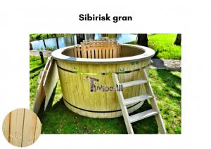 Vedfyrt elektrisk badestamp plast Sibirisk gran (2)