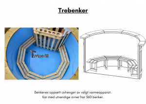 Vedfyrt elektrisk badestamp plast Trebenker (6)