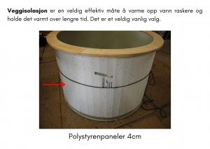 Vedfyrt elektrisk badestamp plast Veggisolering (14)