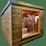 Moderne utendørs hage badstue (1)