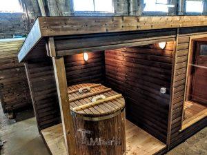 Moderne utendørs hage badstue (2)