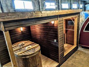 Moderne utendørs hage badstue (3)