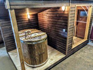 Moderne utendørs hage badstue (4)