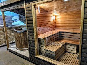 Moderne utendørs hage badstue (7)