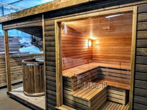 Moderne utendørs hage badstue (8)