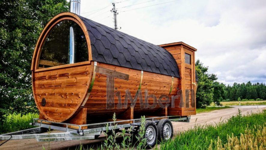 Vedfyrte utendørs mobil sauna