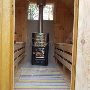 Utendørs vedfyrt tønne badstuer, Jorunn, Venabygd, Norge (2)
